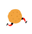 a delicious cookie character with legs icon for vector image