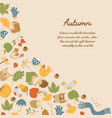 abstract autumn colorful decorative template vector image vector image