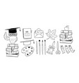 art education school set vector image