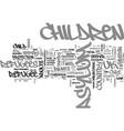 asylum seeker and refugee children text word vector image vector image