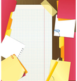 Background of an office stuff vector image vector image