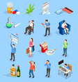 bad habits people isometric icons vector image vector image