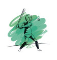 baseball player cartoon vector image vector image