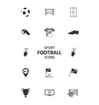 basic soccer or football icons set vector image