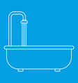 bathroom icon outline style vector image vector image