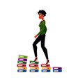 black african american businesswoman climbing up vector image vector image