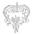 Black hand drawn doodle vector image