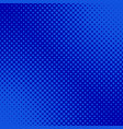 blue retro halftone dot pattern background vector image vector image
