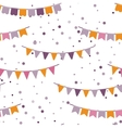 Bunting party flags garland seamless vector image