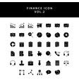 business and finance icon glyph style set vol 2