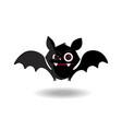 cartoon cute friendly black bat character on vector image