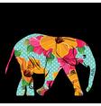 cartoon elephant the silhouette elephant vector image vector image