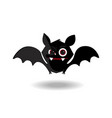 cartoon of cute friendly black bat character on vector image
