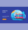 cheap bus tickets concept 02 vector image vector image