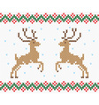 Christmas embroidery deer seamless texture vector image vector image