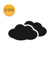 clouds icon isolated flat style vector image