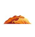 colorado mountain plato rocky cliffs in desert vector image