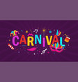 colorful carnival background banner vector image