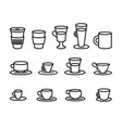 concept of coffee cup line vector image