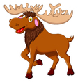 cute moose cartoon for you design vector image vector image