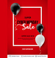 cyber monday sale background with balloons vector image
