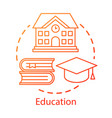 education concept icon knowledge transfer vector image vector image