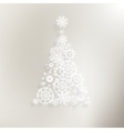 Elegant background with snowflakes EPS 10 vector image vector image