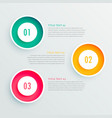 elegant three steps infographic design vector image vector image