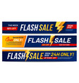 flash sale banners lightning offer sales only vector image vector image