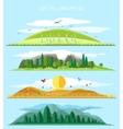 flat forest landscape vector image vector image