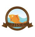 gold fish logo vector image
