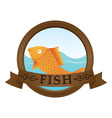 gold fish logo vector image vector image