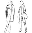 graphic with fashion models for design vector image
