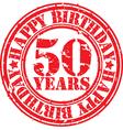 grunge 50 years happy birthday rubber stamp