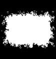 halloween bats frame vector image vector image