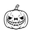 halloween pumpkin design element for poster card vector image vector image