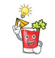 have an idea bloody mary mascot cartoon vector image