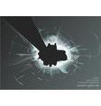 hole broken glass on transparent background vector image