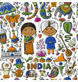 indian lifestyle seamless pattern for your design vector image vector image