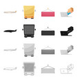 isolated object of goods and cargo symbol set of vector image