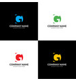 letter gd logo icon flat vector image vector image