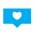 like sign like icon on white background flat vector image vector image
