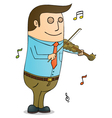 Man Playing violin vector image