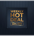 Mega flash sales banners with black gold for sales