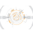 orange futuristic digital technology vector image vector image