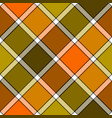 orange khaki marsh color diagonal check plaid vector image vector image