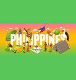 phillipines tourism concept vector image vector image