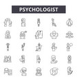 psychologist line icons signs set vector image vector image