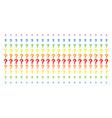 question shape halftone spectral array vector image