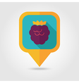Raspberry flat pin map icon Berry fruit vector image vector image